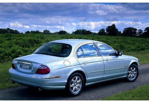 JAGUAR S-Type I sedan niebieski jasny tylny lewy
