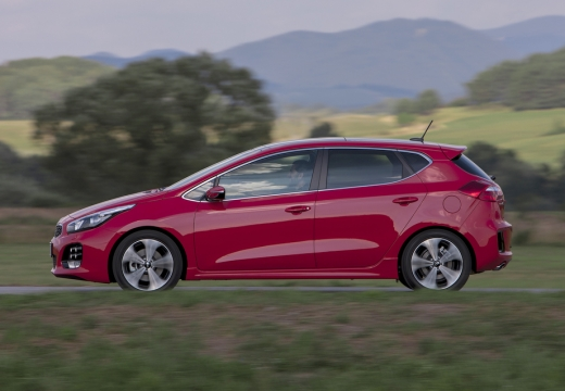 KIA Ceed IV hatchback czerwony jasny boczny lewy