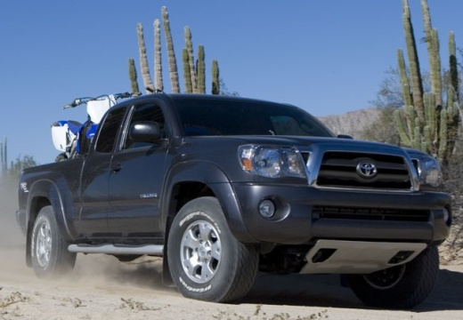 Toyota Tacoma III pickup szary ciemny przedni prawy