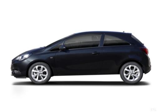 OPEL Corsa hatchback czarny boczny lewy