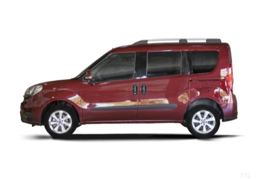 FIAT Doblo kombi bordeaux (czerwony ciemny) boczny lewy