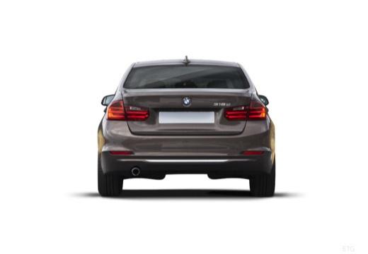 BMW Seria 3 F30 sedan szary ciemny tylny