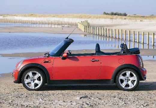 MINI [BMW] Cabrio kabriolet czerwony jasny boczny lewy