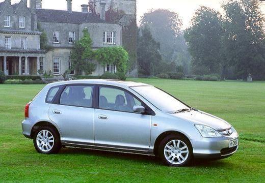 HONDA Civic IV hatchback silver grey boczny prawy