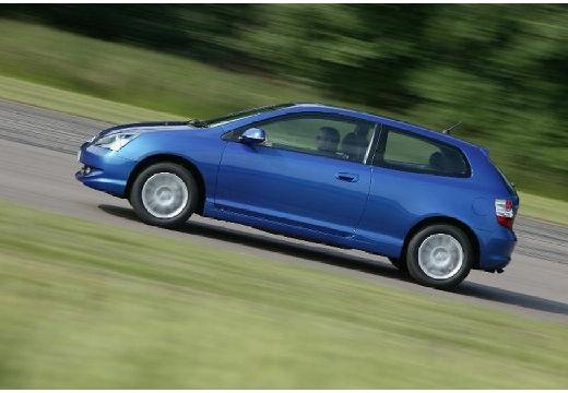 HONDA Civic V hatchback niebieski jasny boczny lewy
