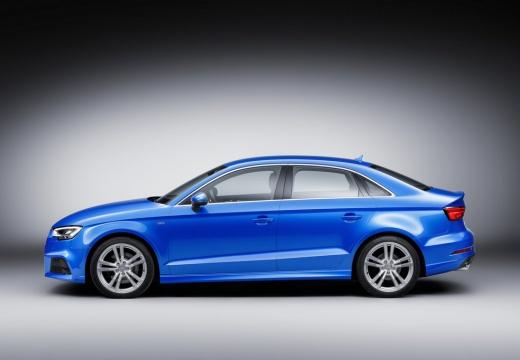 AUDI A3 Limousine 8V sedan niebieski jasny boczny lewy