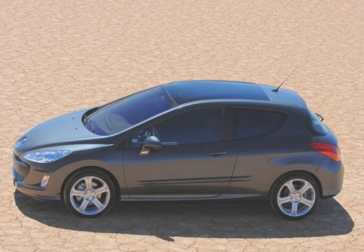 PEUGEOT 308 I hatchback szary ciemny boczny lewy
