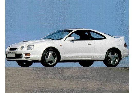 Toyota Celica coupe biały przedni lewy