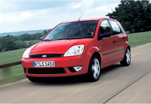 FORD Fiesta hatchback czerwony jasny przedni lewy