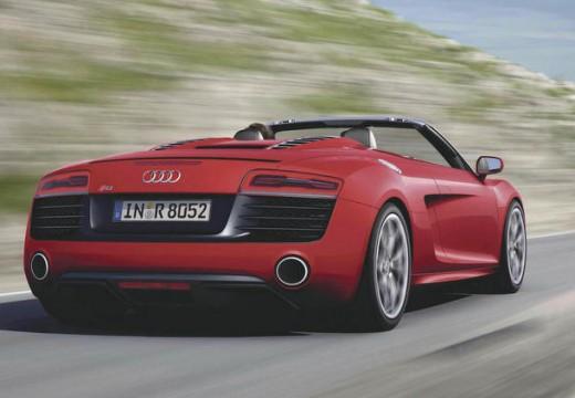 AUDI R8 roadster czerwony jasny tylny prawy