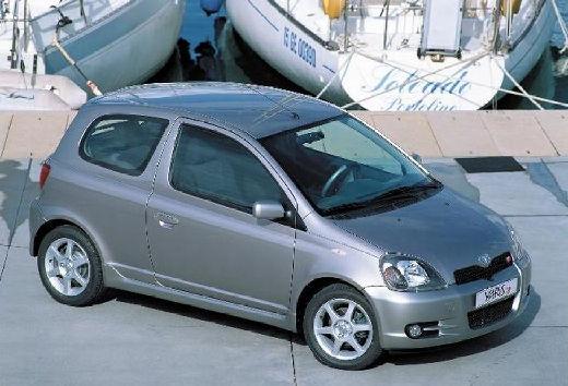 Toyota Yaris I hatchback silver grey przedni prawy