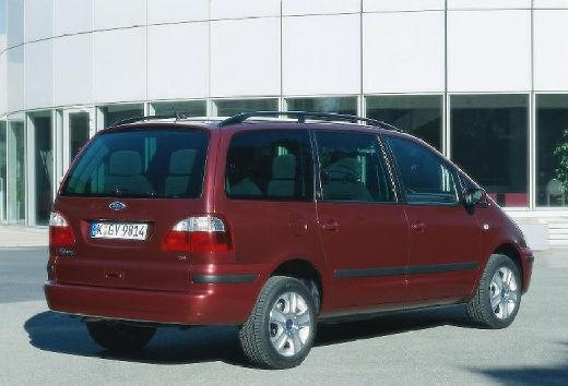 FORD Galaxy II van bordeaux (czerwony ciemny) tylny prawy