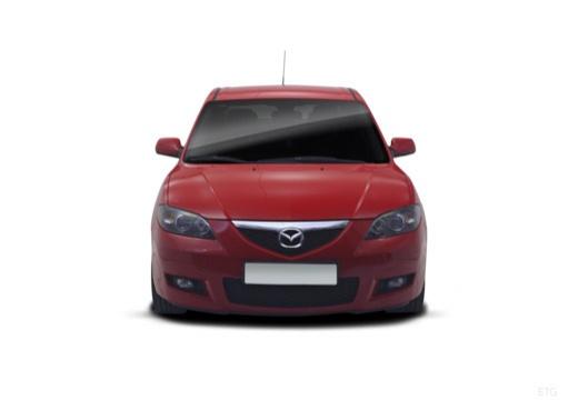 MAZDA 3 II sedan czerwony jasny przedni