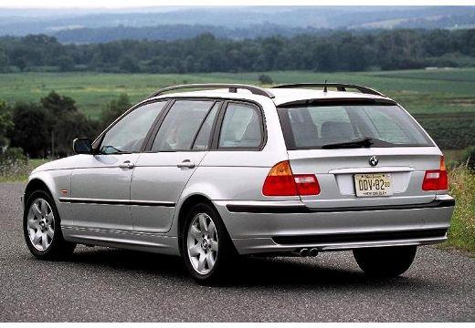 BMW Seria 3 kombi silver grey tylny lewy