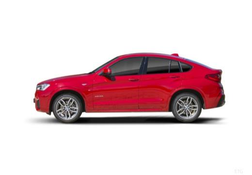 BMW X4 kombi czerwony jasny boczny lewy