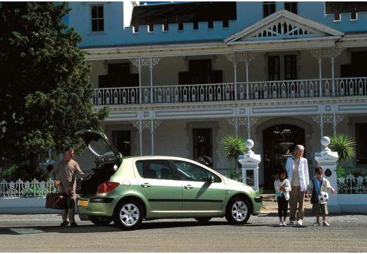 PEUGEOT 307 hatchback zielony jasny tylny prawy