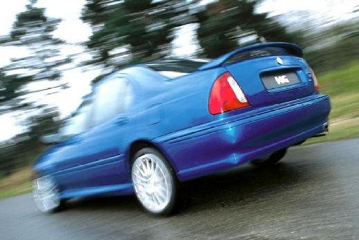 MG ZS I sedan niebieski jasny tylny lewy