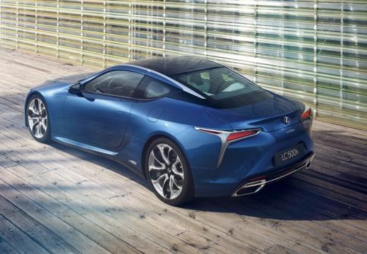 LEXUS LC coupe niebieski jasny górny tylny