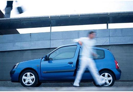 RENAULT Clio II II hatchback niebieski jasny boczny lewy