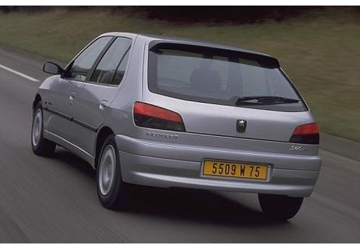 PEUGEOT 306 hatchback silver grey tylny lewy