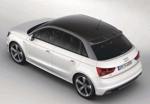 AUDI A1 Sportback I hatchback biały tylny lewy