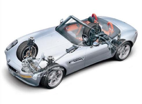 BMW Z8 roadster prześwietlenie