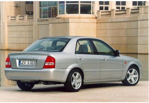 MAZDA 323 sedan silver grey tylny prawy