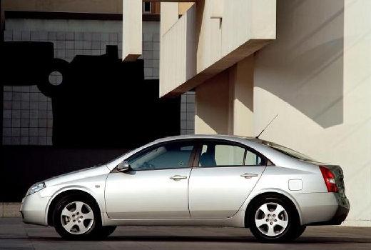 NISSAN Primera IV sedan silver grey tylny lewy