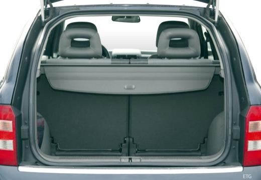 AUDI A2 hatchback przestrzeń załadunkowa