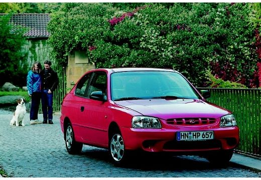 HYUNDAI Accent II hatchback czerwony jasny przedni prawy