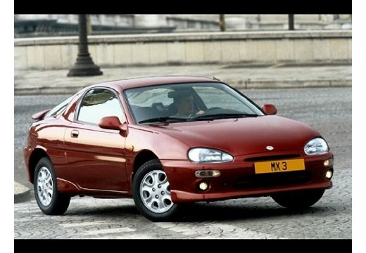 MAZDA MX-3 coupe bordeaux (czerwony ciemny) przedni prawy