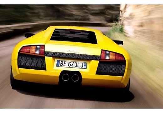 LAMBORGHINI Murcielago coupe żółty tylny