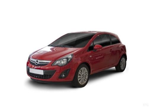 OPEL Corsa D II hatchback czerwony jasny przedni lewy