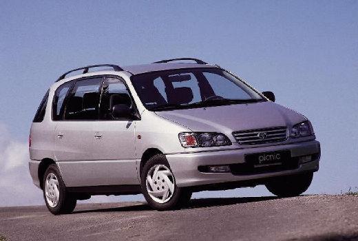 Toyota Picnic van silver grey przedni prawy