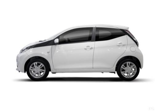 Toyota Aygo IV hatchback biały boczny lewy