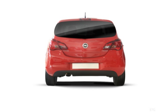 OPEL Corsa E hatchback czerwony jasny tylny