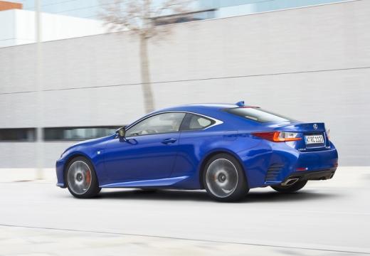 LEXUS RC coupe niebieski jasny tylny lewy