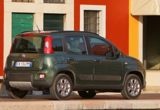 FIAT Panda III hatchback zielony tylny prawy