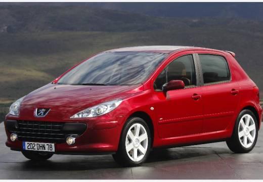 PEUGEOT 307 II hatchback czerwony jasny przedni lewy