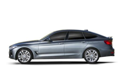 BMW Seria 3 Gran Turismo hatchback szary ciemny boczny lewy