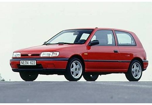 NISSAN Sunny II hatchback czerwony jasny przedni lewy