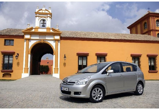 Toyota Corolla Verso II kombi mpv silver grey przedni lewy