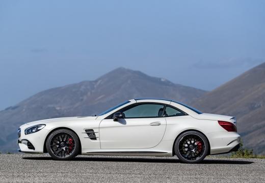 MERCEDES-BENZ Klasa SL roadster biały boczny lewy