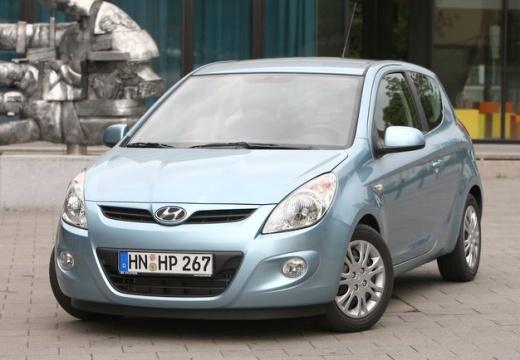 HYUNDAI i20 hatchback niebieski jasny przedni lewy