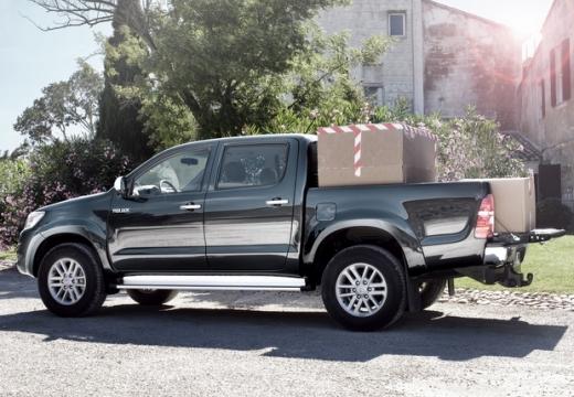 Toyota HiLux pickup szary ciemny tylny lewy