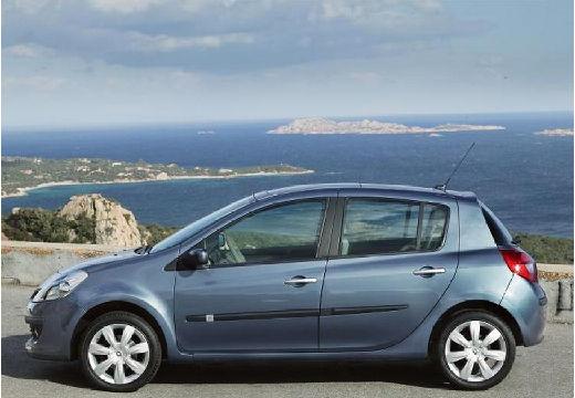 RENAULT Clio III I hatchback niebieski jasny boczny lewy