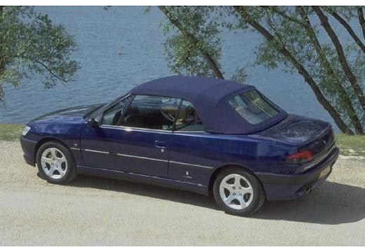 PEUGEOT 306 Cabrio I kabriolet niebieski jasny tylny lewy