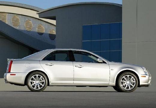CADILLAC STS sedan silver grey boczny prawy