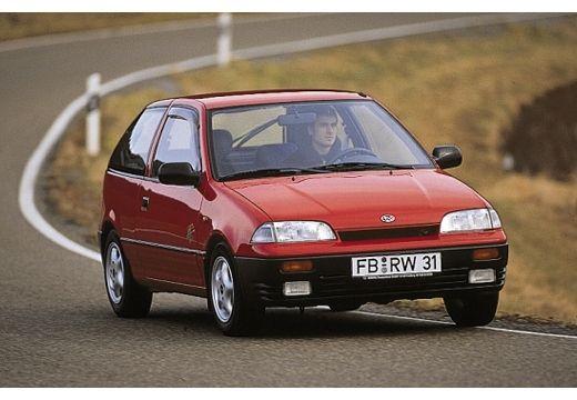 SUBARU Justy hatchback czerwony jasny przedni prawy