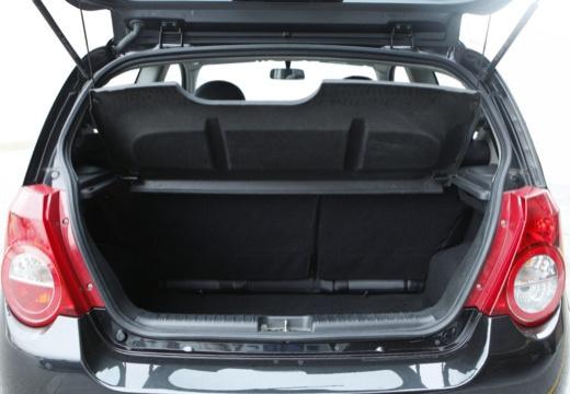 CHEVROLET Aveo II hatchback czarny przestrzeń załadunkowa